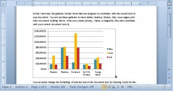 Excel Chart pasted as a Link into Word