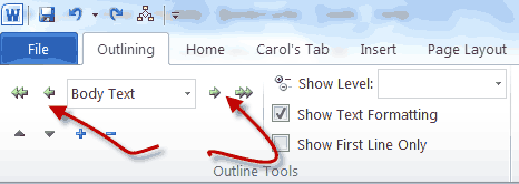 word outline tools