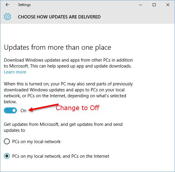 update sharing-off