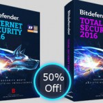 Bitdefender Internet Security 2016 & Total Security 2016 Half Price