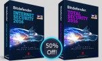 Bitdefender Internet Security 2016 & Total Security 2016 Half Price