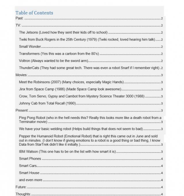 table of contents word 2010 thesis All i have a section of vba code that worked a while ago, but doesn't any longer the code hasn't changed the code is designed to update the table of contents.