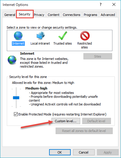 IE-Security settings2