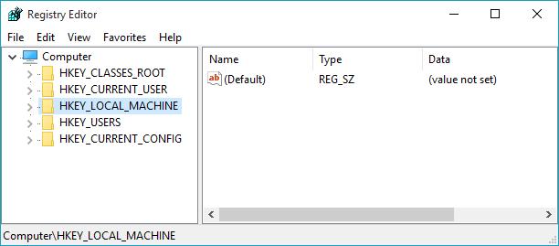 Registry Editor