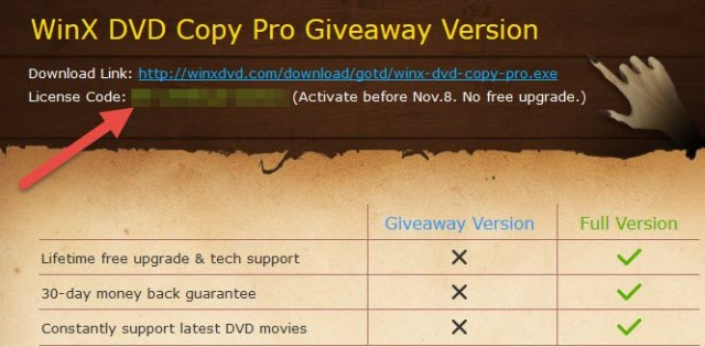 winx dvd copy pro-popup window