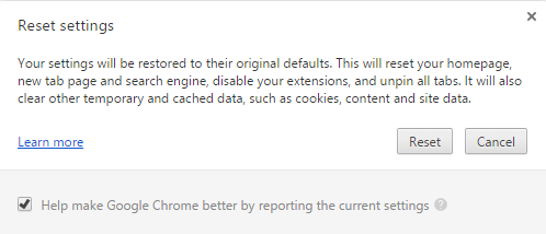 chrome-reset settings 2