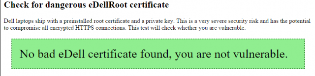 dell certificate check