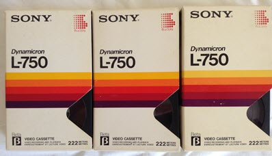 sony beta tapes