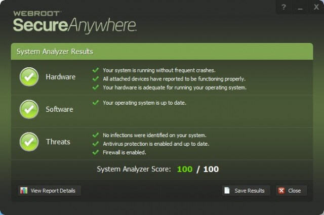 webroot sa - results summary