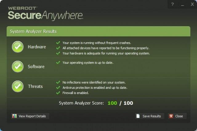 webroot sa - results summary