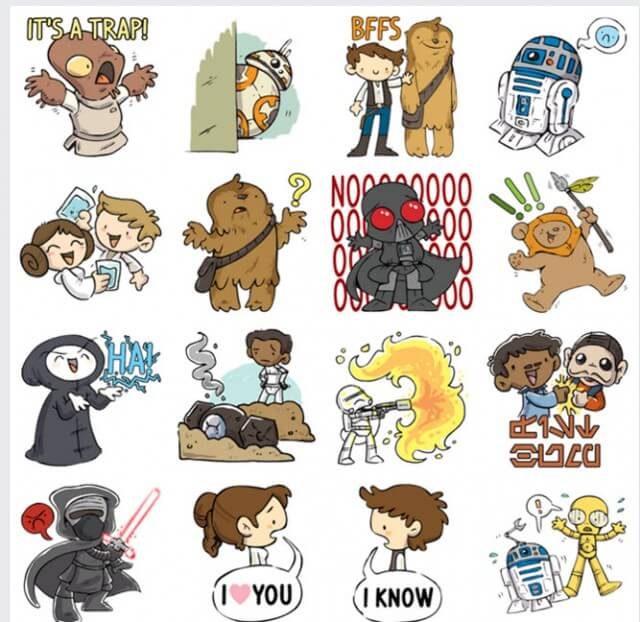 The Force Is Strong With This One Facebook Star Wars Stickers Pic 1