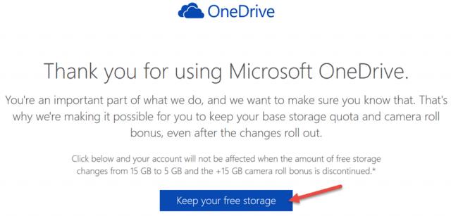 onedrive-keep free storage