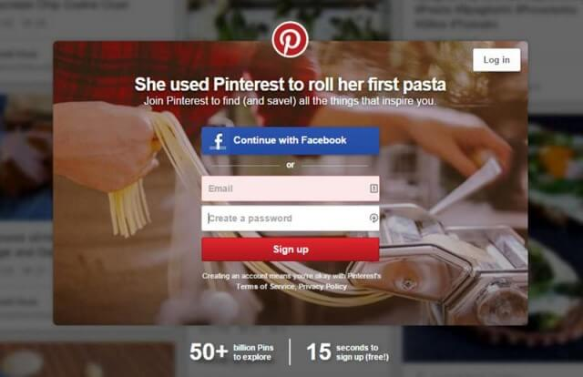 pinterest-create account1