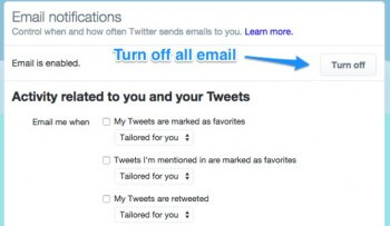 twitter mail notifications
