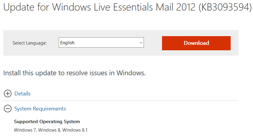 windows live mail download for windows 10