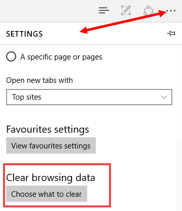 edge-settings-clear browsing data