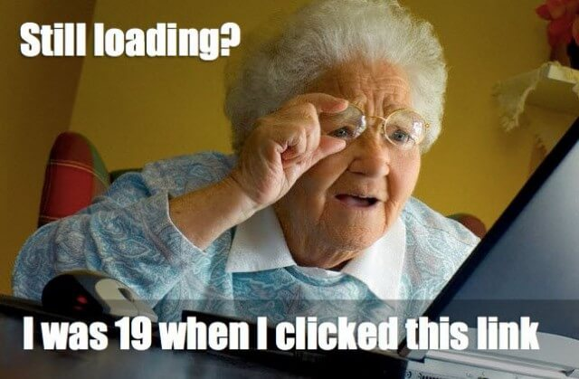 old lady-dial up