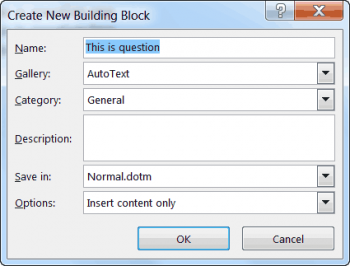 create new word building block