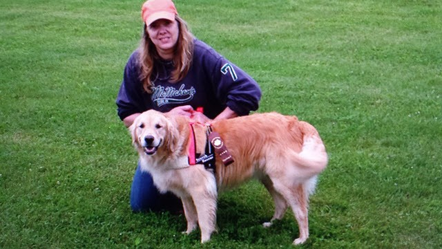 The Author with one of my few selfies. This is with my certified Search & Rescue Golden Retriever. We help locate missing people and cadavers.