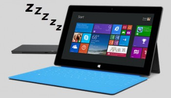 surface tablet-sleeping