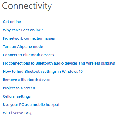 win10 help-connectivity