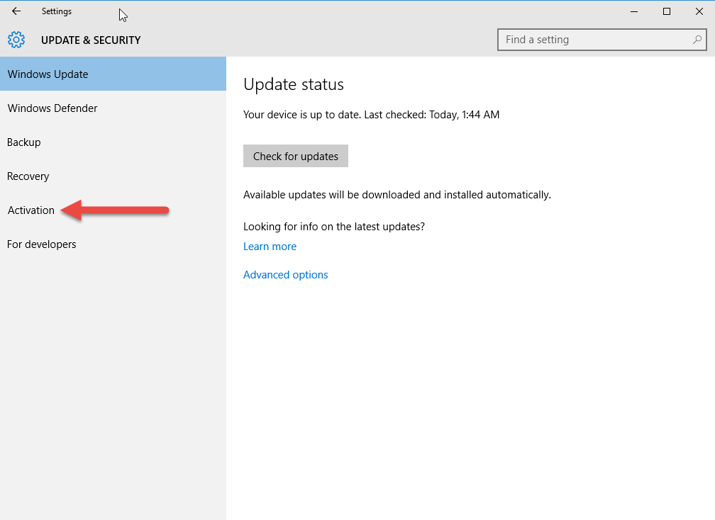 How to activate windows 10 update choice image how to for Windows 10 update