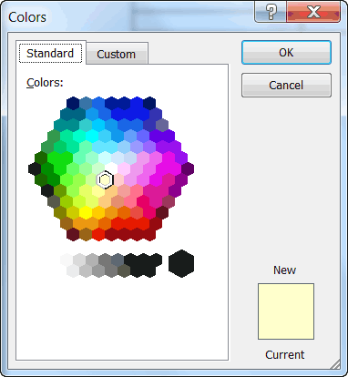 Microsoft word color picker