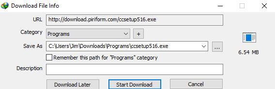 IDM download screen