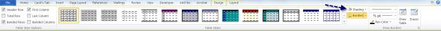 Microsoft Word Shading tool