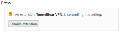 tunnelbear vpn setting