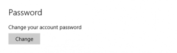 windows 10 password settings