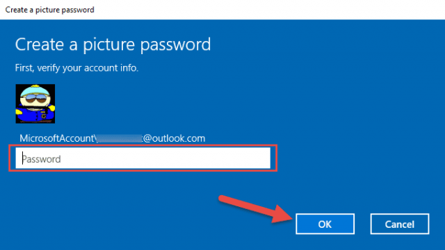 picture password authenticate