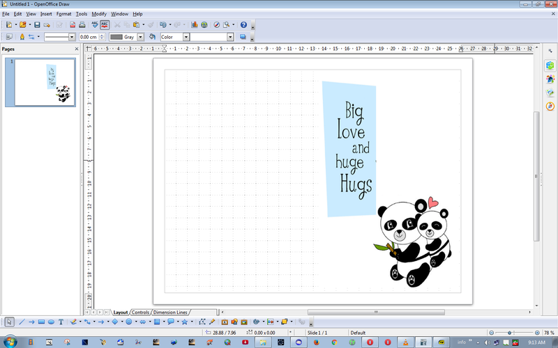 How to create greeting cards in openoffice daves computer tips openoffice greeting card outside m4hsunfo