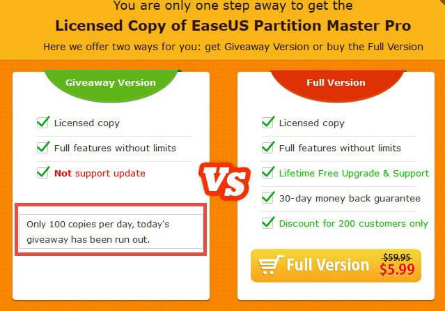 easeus partition master-get it free
