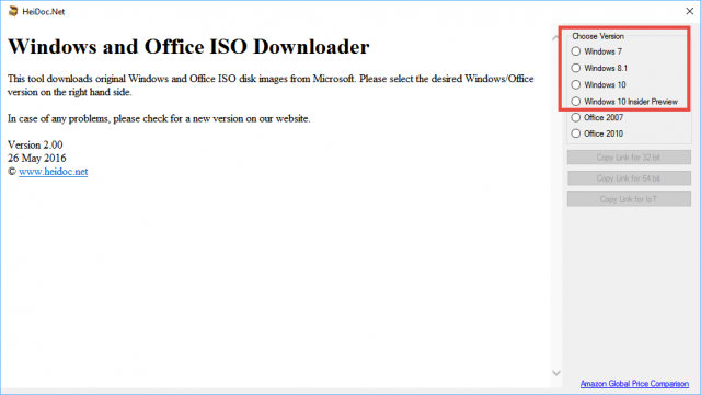 windows iso downloader-choose operating system