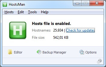 HostsMan HOSTS file manager