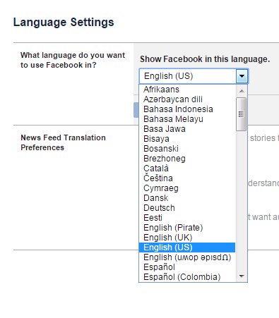 How To Change Facebook Language Back To English | Daves