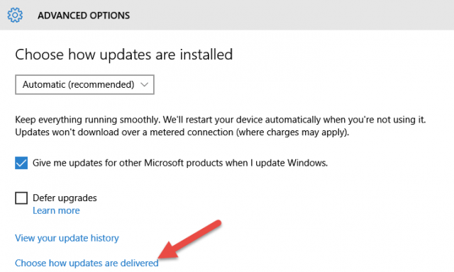 win10-choose how updates are delivered