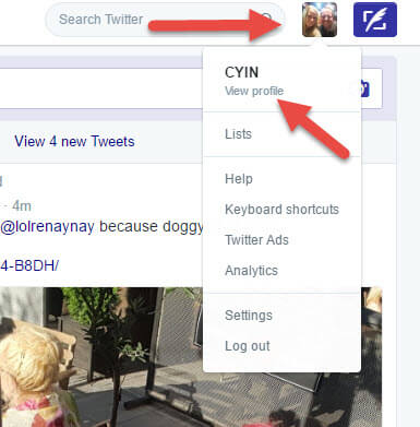 twitter-drop-down-menu