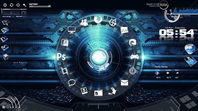 gadgets-busy-desktop