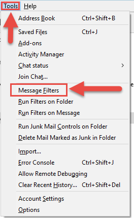 Message Filter option