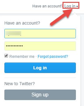 Twitter Log in