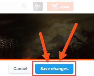 Twitter Save Changes Button