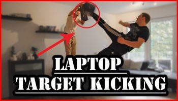laptop kicking