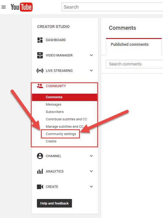 youtube-community-menu