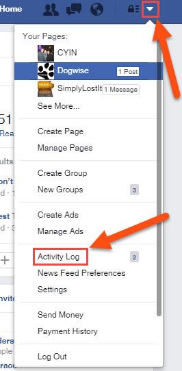 facebook-menu-and-activity-log-link