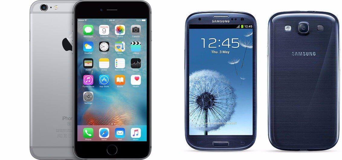 Samsung galaxy s3 vs iphone 6s