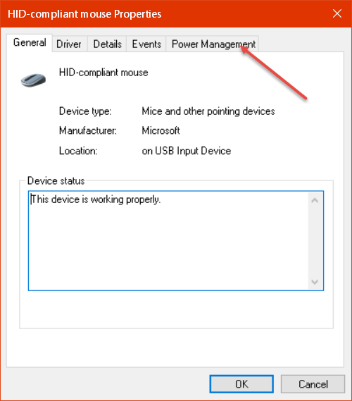 Windows 10 Quick Tips – How To Disable Mouse Wake-Up | Daves