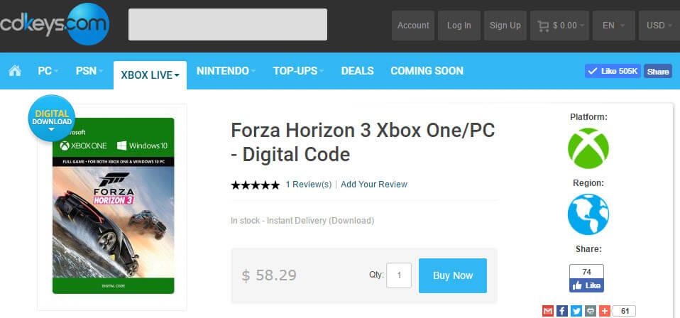 forza horizon 3 registration code pc