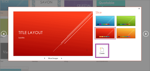 powerpoint title layout